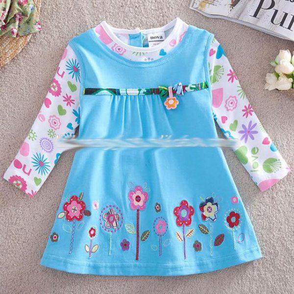платье туника на девочку трикотажное 2762 фотография