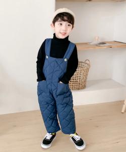 полукомбинезон детский стеганый синий 290919 фотография
