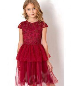праздничное платье для девочки вишневый восторг 2594 фотография