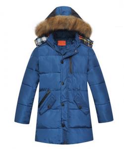 пуховик детский куртка зимняя на мальчика подростка 271015 фотография