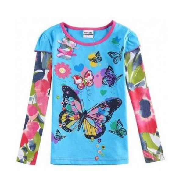 реглан для девочки, бабочка 5932 фотография