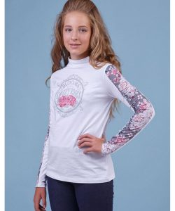 реглан гольф для девочки подростка, розы 80151 фотография