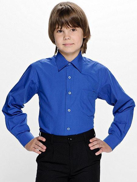 рубашка для мальчика 2507171 голубая 2507171 фотография