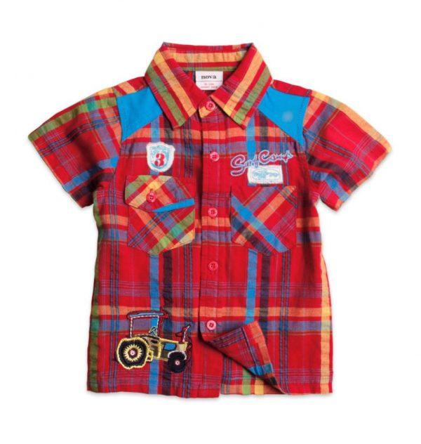 рубашка летняя для мальчика с коротким рукавом 130516 фотография