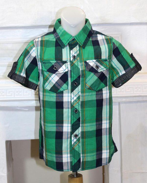 рубашка на лето для мальчика с коротким рукавом 100616 фотография
