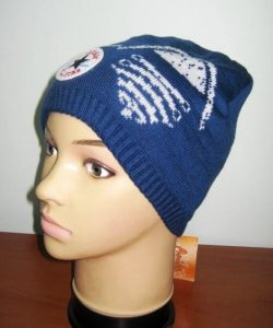 шапка для мальчика на флисе синяя звезда 56111 фотография