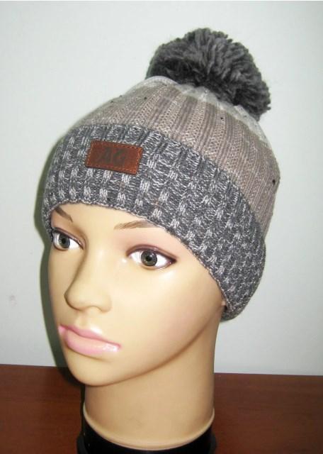 шапка вязаная теплая для мальчика 2574 фотография