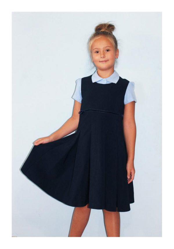 сарафан школьный для девочки синий 506152 фотография