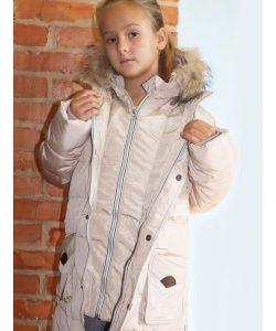 натуральный пуховик куртка зимняя для девочки. 1512155 фотография