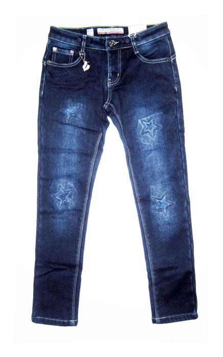 теплые зимние джинсы на флисе для девочки 89716 фотография