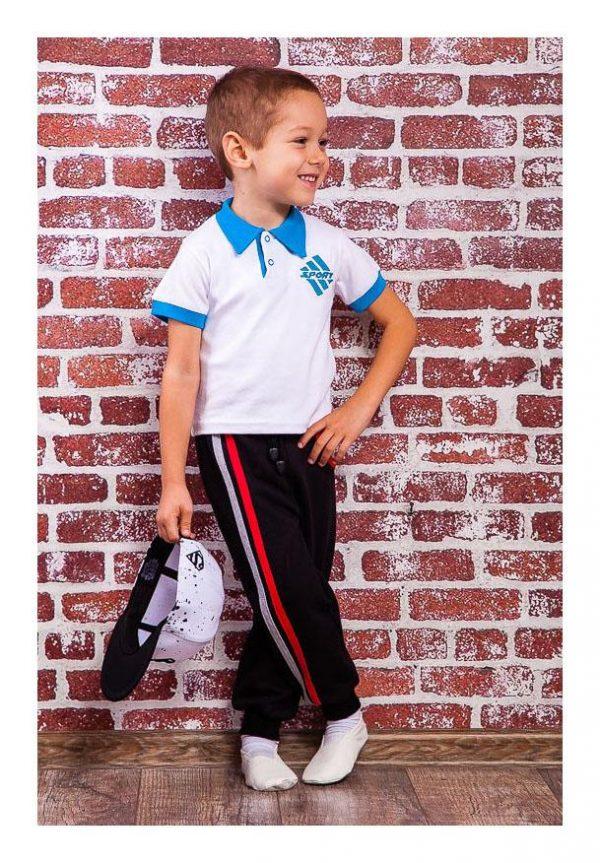 спортивные брюки для мальчика утепленные 90216 фотография