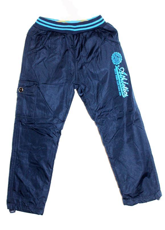 штаны детские из плащевки на флисе для мальчика 3462 фотография