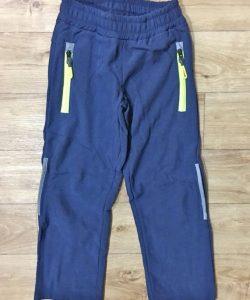 штаны из плащевки на флисе для мальчика лыжник 9077 фотография