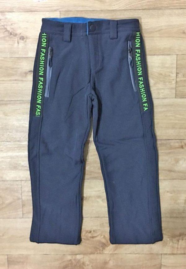 штаны из плащевки на флисе для мальчика лыжник 9100 фотография