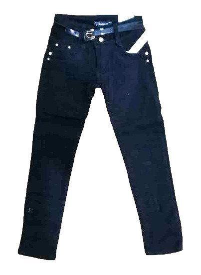 теплые брюки на девочку на флисе черные 88829 фотография