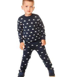 теплый вязаный костюм для мальчика 1630 фотография