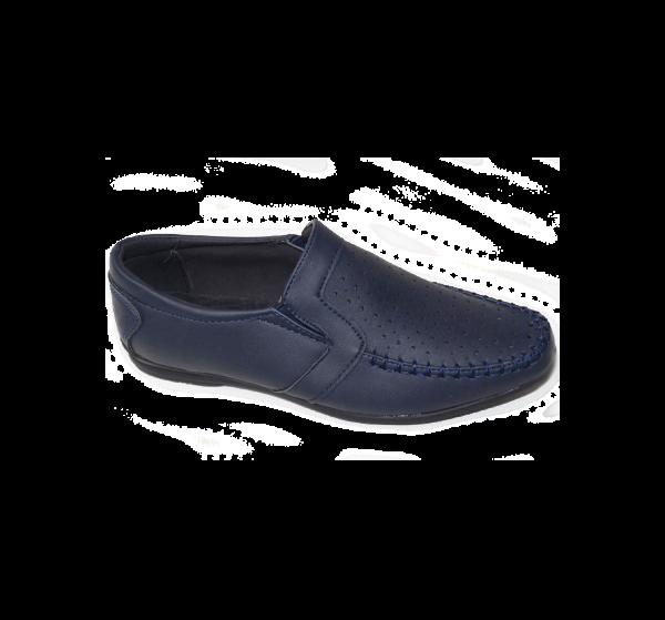 туфли детские для мальчика с перфорацией, школа 2828 фотография