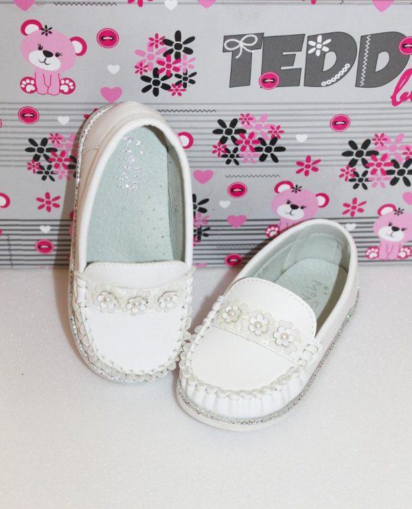 туфли для девочки мокасины белые 24-29 30644 фотография