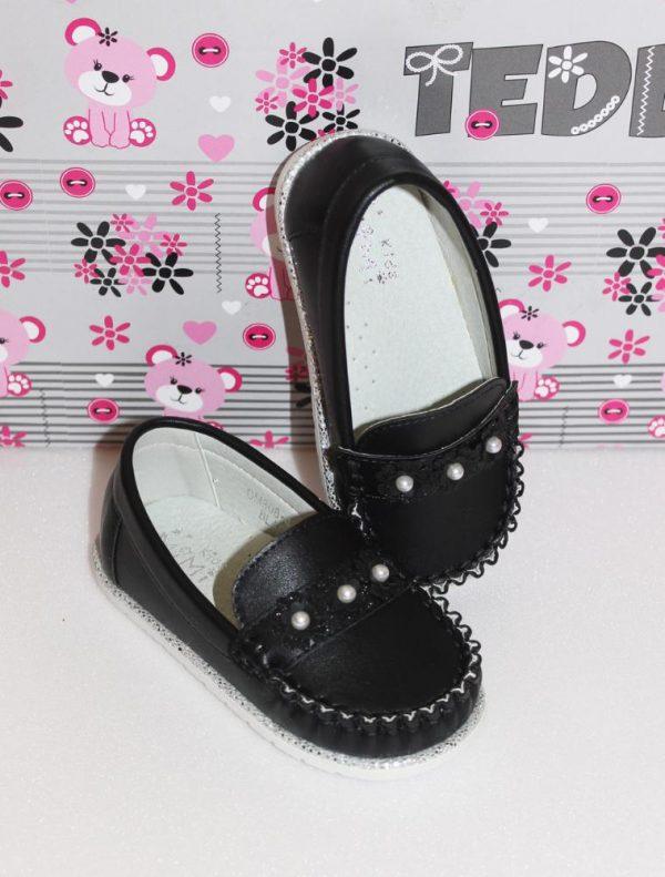 туфли для девочки мокасины черные 24-29 3064 фотография