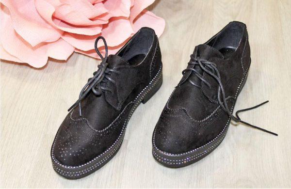 туфли оксфорды черные 7711 фотография