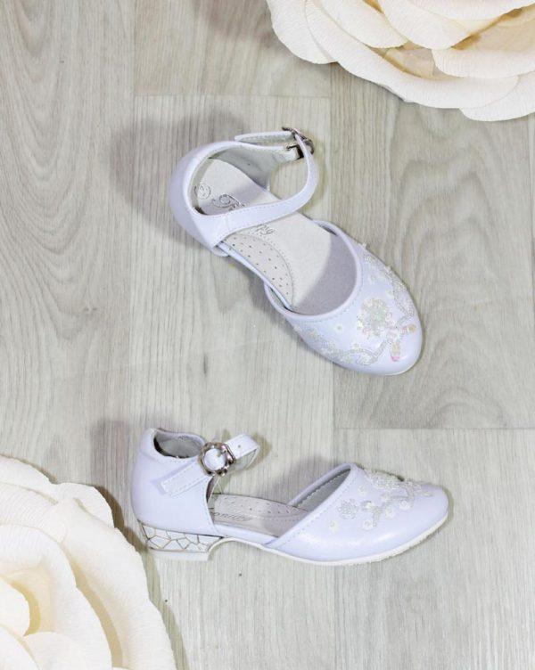 туфли для девочки праздничные белые 26-31 51-13 фотография