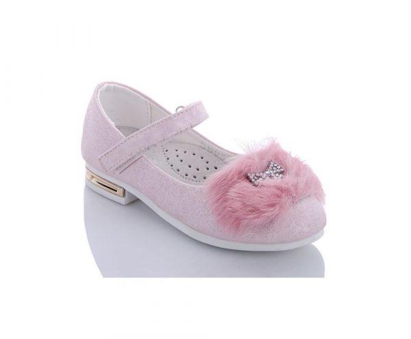 туфли для девочки с меховой брошью 27-31 95-2 фотография