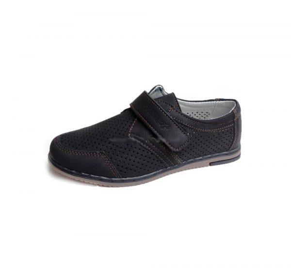 туфли для мальчика с перфорацией на липучке 9310-6 фотография
