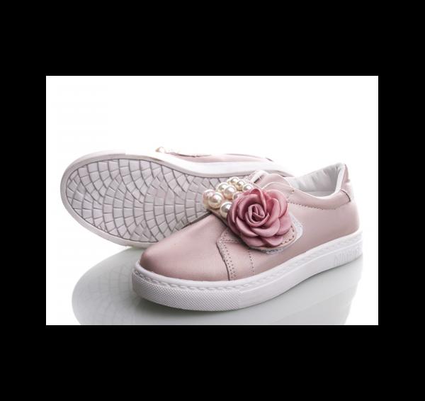 туфли кеды на девочку 5611 розовые размеры 32-37 5611 фотография