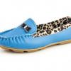 туфли мокасины голубые 160719 фотография №3