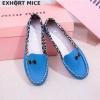 туфли мокасины голубые 160719 фотография №1