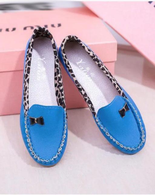 туфли мокасины голубые 160719 фотография