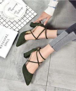 туфли замшевые на устойчивом каблуке 150719 фотография