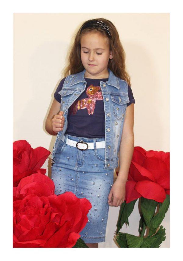 юбка на девочку джинсовая гуччи розочки фотография