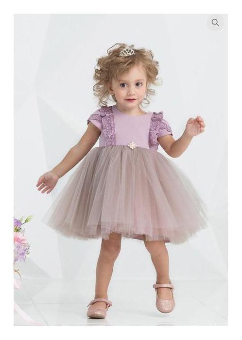 великолепное праздничное платье для девочки, принцесса 7004 фотография