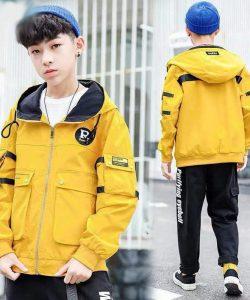 ветровка на мальчика подростка желтая 170220 фотография