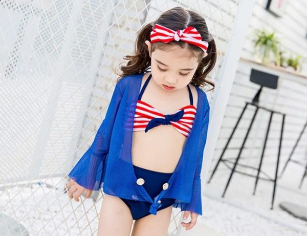 винтажный пляжный костюм для девочки шик 17031 фотография