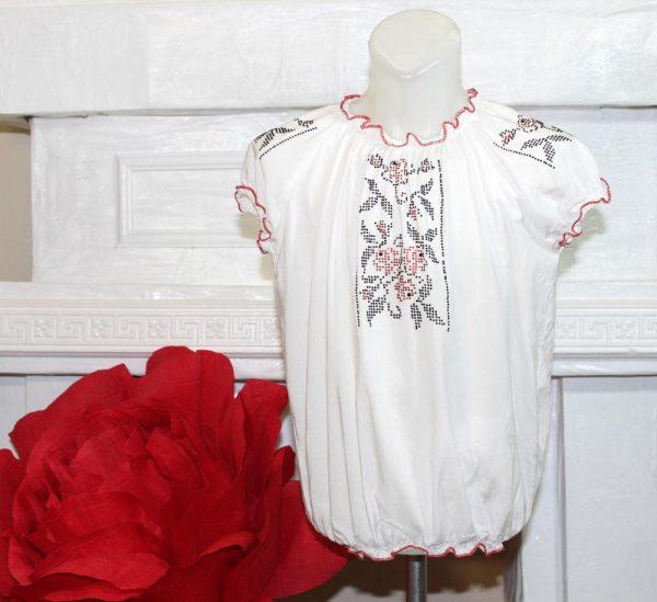 вышиванка для девочки с коротким рукавом 230819 фотография