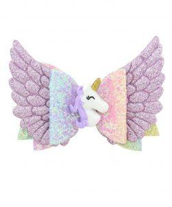 заколка бант единорог с крыльями 601201 фотография