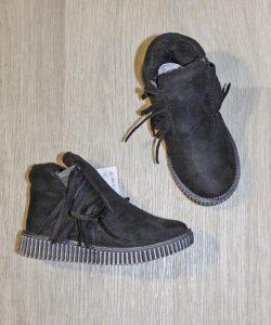 замшевые ботинки для девочки весна осень 2722 фотография