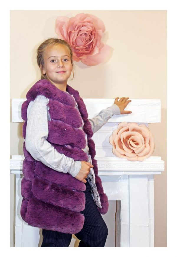 жилет меховой для девочки 102199 фиалка 102199 фотография