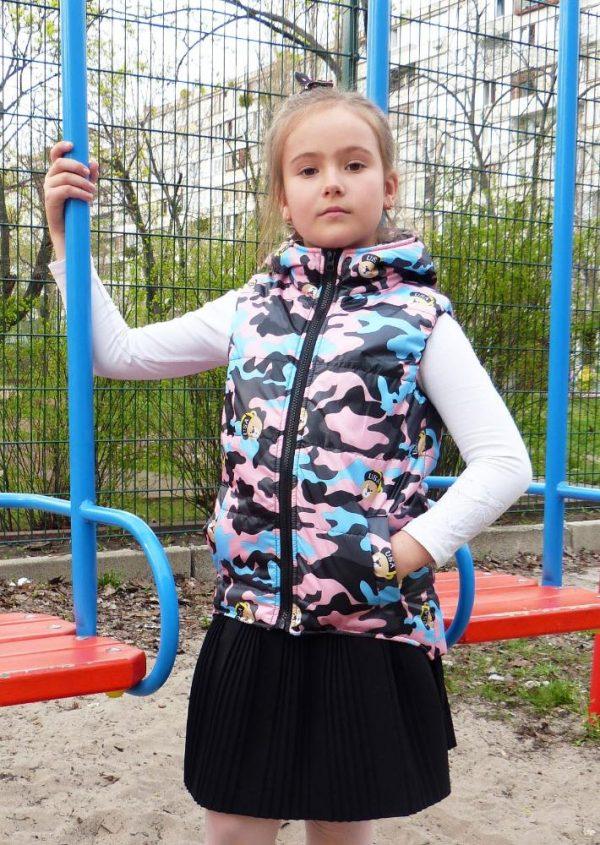жилетка для девочки мишки usa, размеры 116-140 120418 фотография