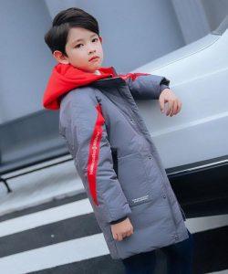 зимняя куртка пуховик на мальчика, 6-10 лет 54111 фотография