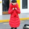 зимнее пальто на девочку викки красное 392501 фотография №2