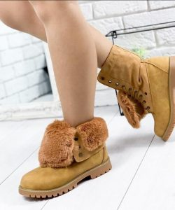 зимние высокие ботинки для девочки подростка тимбер, 33-38 8269 фотография