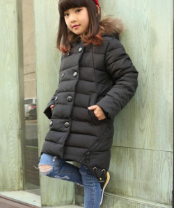 зимнее пальто пуховик на девочку 006 фотография