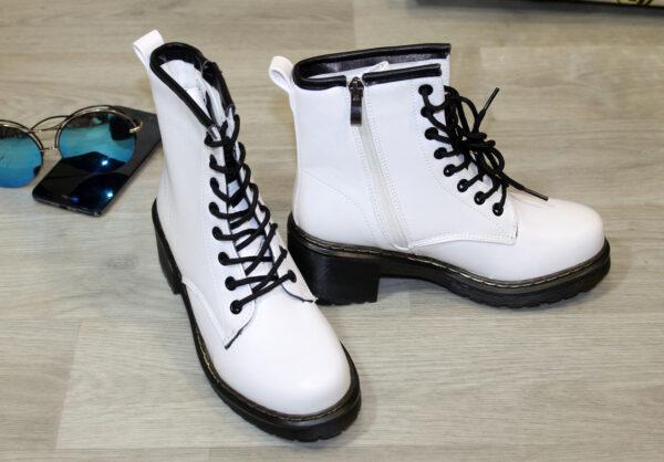 ботинки на девочку демисезонные белые, 36 90919 фотография