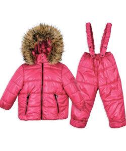 детский зимний костюм для девочки розовый 2010162 фотография