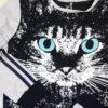 детский спортивный костюм на девочку подростковый кошка 220313 фотография №4