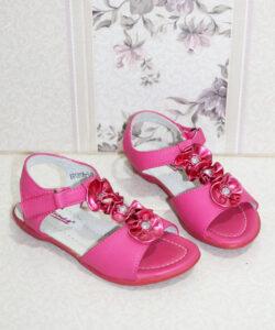 босоножки для девочки кожаные малина 3011139 фотография