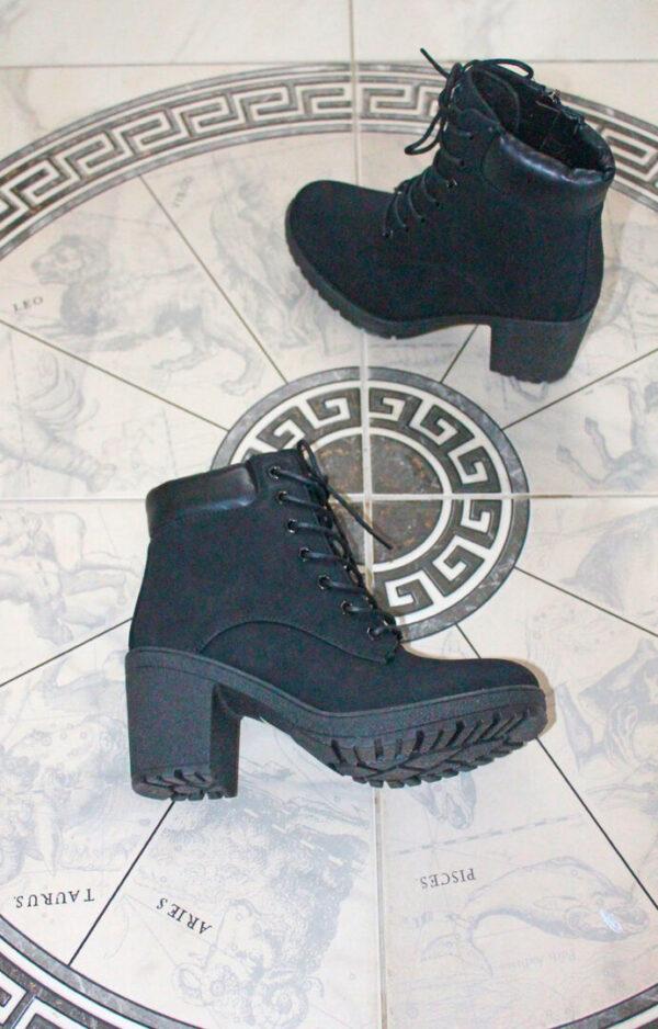 ботинки женские демисезонные черные 280819 фотография